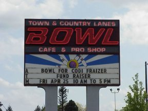 Bowling for Codi day at Town & Country Bowling Lanes in Keizer, Oregon