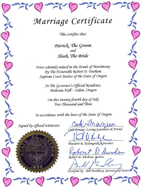 oregon codi governor historic event marriage certificate frazier mansion jean